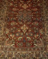 Serabande rug circa 1900, 4'x9'